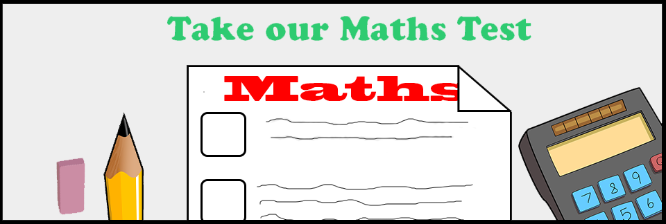 maths test banner
