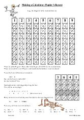 Making a Calculator (Napier's Bones)