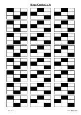 Bingo Cards (3 x 3)